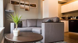 serviced apartments lounge living area