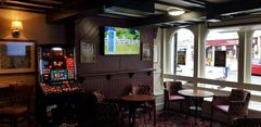 project management on a pub including bar interior